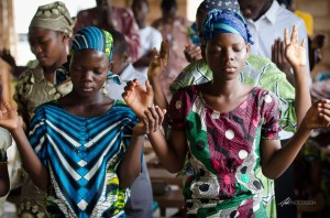 Praying in Benin